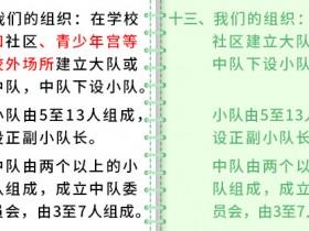 一起学习新《队章》(4)——第八次全国少代会学习笔记(七)