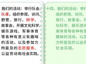 一起学习新《队章》(5)——第八次全国少代会学习笔记(八)