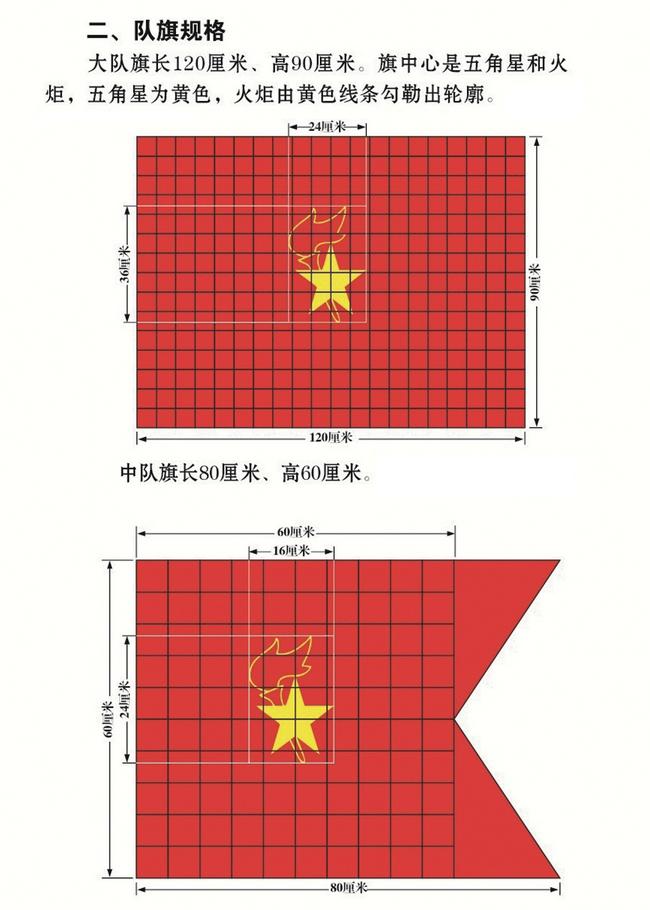 规范的少先队队旗图片(高像素大图可下载)