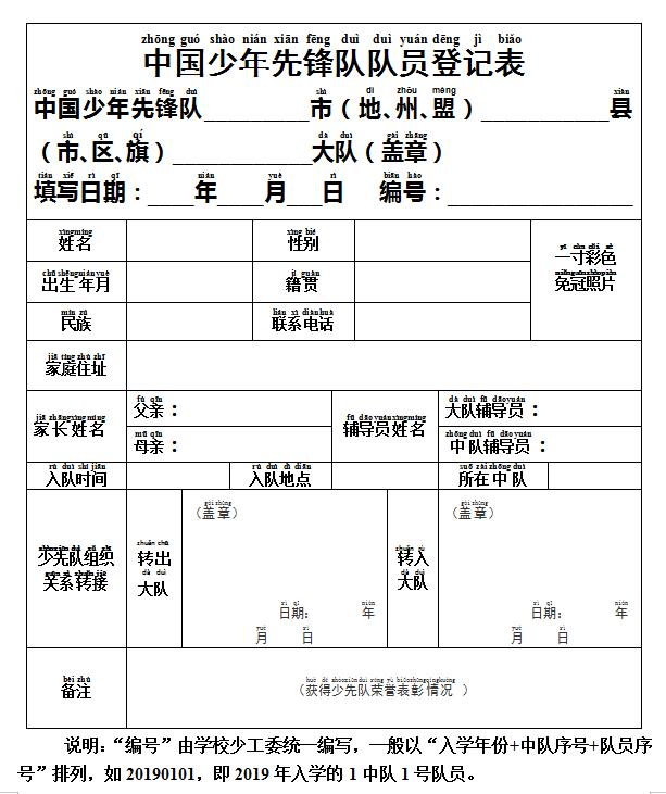 全国少工委最新《入队规程》(2020年9月全面施行)